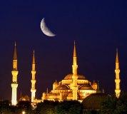 C-168 Голубая мечеть под луной 300х270 Арабский мир