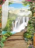 L-042 Замок у водопада 200х270 Арки-Проходы