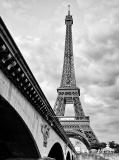 A-077 Эйфелева башня чб 200х270 Черно-белое