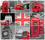 B-017 Лондон коллаж 300х270 Черно-белое