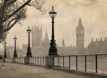 E-038 Лондон сепия 200х147 Черно-белое