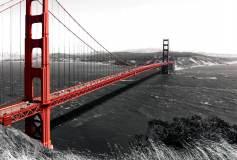 E-057 Красный мост 400х270 Черно-белое