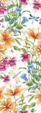 E-070 Стрекозы в цветах 100х270 Цветы