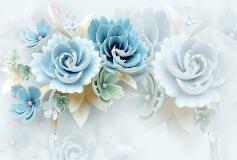 T-035 Большие голубые цветы 400х270 Цветы