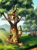 A-021 Домик на дереве 200х270 Детство