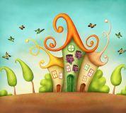 B-030 Сказочные домики 300х270 Детство