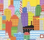 C-035 Пиксельный город 300х270 Детство