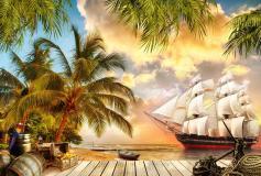 H-053 Остров пиратов 400х270 Детские