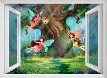 H-069 Окно в волшебный лес 200х147 Детские