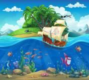 K-043 Пираты у острова 300х270 Детство