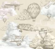 T-067 Воздушные шары винтаж 300х270 Детство