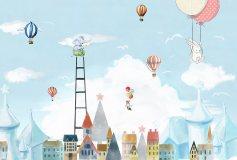 T-068 Воздушные шары над городом 400х270 Детство