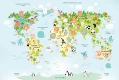 T-086 Детская карта мира 400х270 Детство