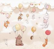 T-099 Животные с воздушными шарами 300х270 Детство