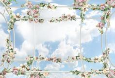 P-067 Навес с розами 400х270 Для потолка