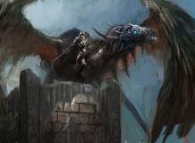 E-036 Дракон рисунок 200х147 Фантазия