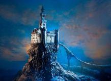 E-037 Замок на скале 200х147 Фантазия
