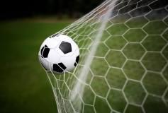 L-100 Футбольный мяч в воротах 400х270 Футбол