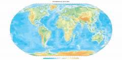 L-085 Географическая карта мира 300х147 Карты