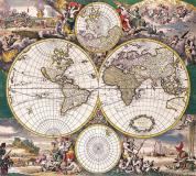 D-044 Старинная карта мира 300х270 Карты