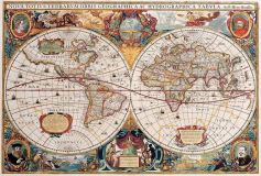 D-051 Старинная карта 400х270 Карты