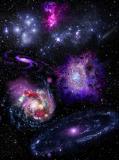 K-072 Яркие галактики 200х270 Космос