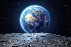 L-117 Вид на Землю с Луны 400х270 Космос