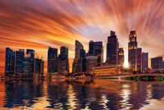 P-047 Закат над Сингапуром 400х270 Мегаполис