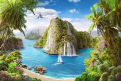 T-176 Остров водопадов 400х270 Море-Океан