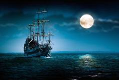 E-027 Корабль в ночи 400х270 Море - Океан