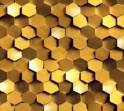 K-010 Золото на стене 300х270 Объемные
