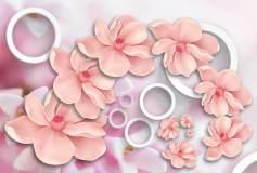 L-063 Цветы объем 400х270 Объемные