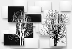 P-025 Ветви деревьев чб 400х270 Объемные