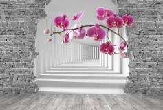 P-026 Веточка орхидеи в туннеле 400х270 Объемные
