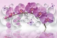 P-074 Орхидея и круги 400х270 Объемные