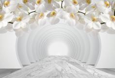 P-106 Туннель с белыми орхидеями 400х270 Объемные
