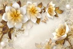 T-005 Керамические цветы 400х270 Объемный