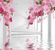 T-211 Розовые цветы в тоннеле 300х270 Объемный