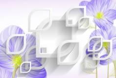 T-227 Сиреневые цветы 400х270 Объемный