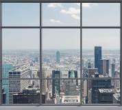 B-053 Вид на мегаполис 300х270 Окна - Балконы