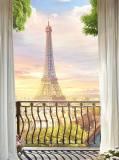 H-014 Парижское утро 200х270 Окна - Балконы