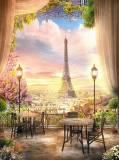 H-015 Кафе в Париже 200х270 Окна - Балконы