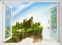H-022 Окно с видом на замок 200х147 Окна - Балконы