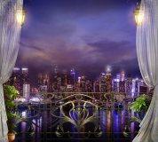 K-030 Вид на Мегаполис ночь 300х270 Окна-Балконы