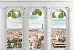 P-018 Арочные окна с видом на город 400х270 Окна-Балконы