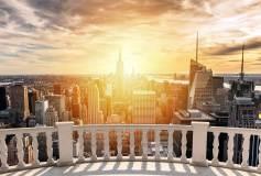 P-034 Вид на небоскребы 400х270 Окна-Балконы