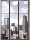 T-055 Вид из окна на мегаполис 200х270 Окна-Балконы