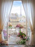 T-179 Прекрасное Парижское утро 200х270 Окна-Балконы