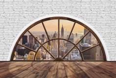 P-032 Вид на мегаполис из окна 400х270 Окна-Балконы