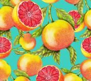 H-074 Грейпфруты 300х270 Повторяющиеся принты и фоны